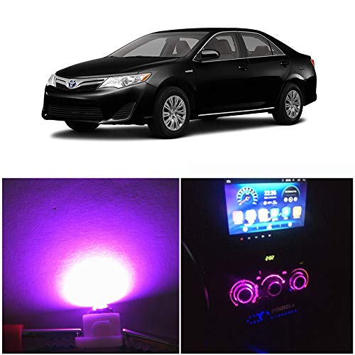 WLJH Pink A/C Control Climate HVAC Panel Lights Dashboard Dash Heater Indicator Light Led Bulbs Replacement Kit For Camry Corolla Tacoma Matrix, Pack of 10: