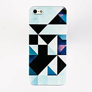 DUR Irregular Triangle Pattern TPU Soft Case for iPhone 5/5S , Multicolor
