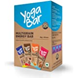 Yogabars Multigrain Energy Bars, Pack of 10 (Chocolate, Vanilla Almonds, Cashew Orange and Nuts & Seeds)