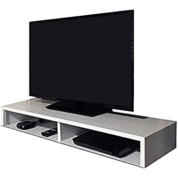 Amazon Com Rizervue Tv Stand For Flat Screen White Tabletop Up