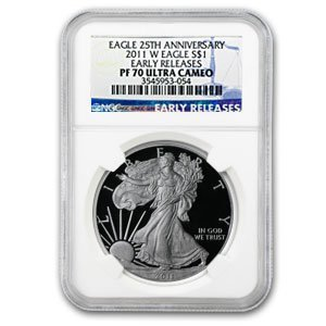 2011 W Proof Silver American Eagle PF-70 NGC (ER) Silver PR-70 NGC