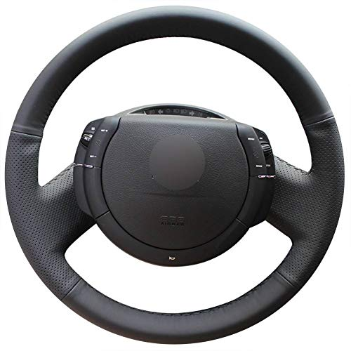 Car Accessories UKB4C Grey & Black Steering Wheel & Seat Cover set for Citroen C5 All Years