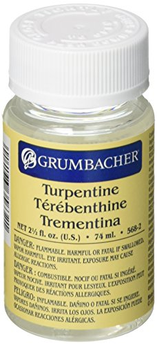 Grumbacher Turpentine, 2-1/2 Oz. Jar, #568-2