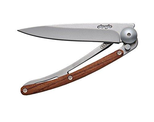 Deejo Linerlock Rosewood 27 Gram Folding Knife