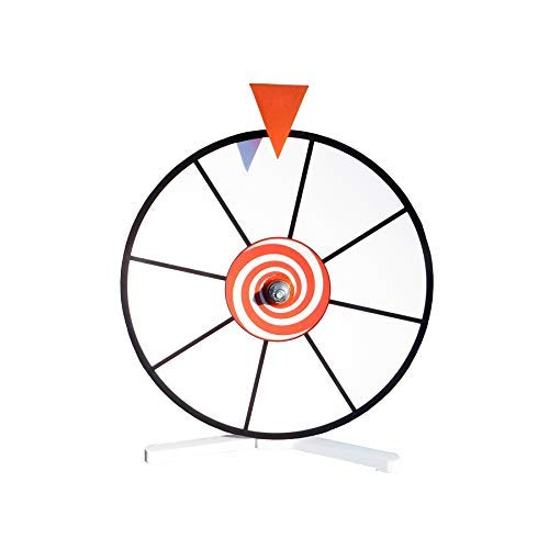 "Fantastic Deal! Prize Wheel 12"" White Face Dry Erase Spin Wheel with Kid Safe Pegless Design"