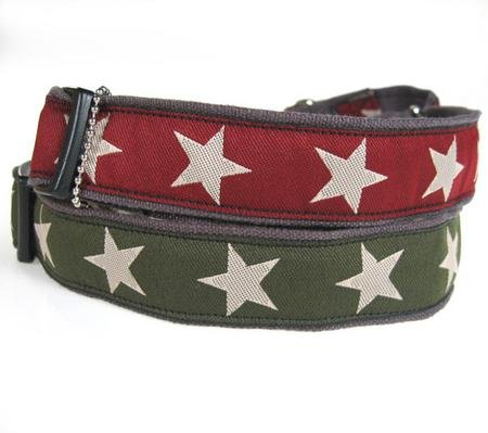 Hemp Martingale Dog Collars-S(8_14)-RED