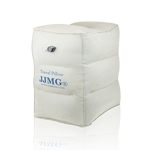 JJMG New Air Travel Leg Rest Pillow for Resting Feet for Kids, Children Sleeping During Air Plane Flight Footrest Pillow Recliner Relax Cushion, Buy 3 & Make a Bed in ()