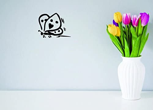 Peel /& Stick Wall Sticker Design with Vinyl Moti 2138 3 Decal Butterfly Color Black Size 18ES x 18ES