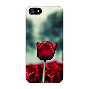 PC Case For Case Cover For Apple Iphone 6 4.7 Inch Protector Case (red Tulips)