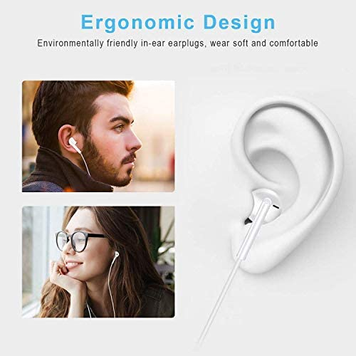 USB C Headphone HiFi Stereo in Ear USB C Earbuds Type C Headphones with Microphone Bass Earbud with Volume Control Compatible with Google Pixel 3XL,OnePlus 7 Pro,XiaoMi,Huawei P30 Pro,iPad Pro,Sony 41IJMIfn xL
