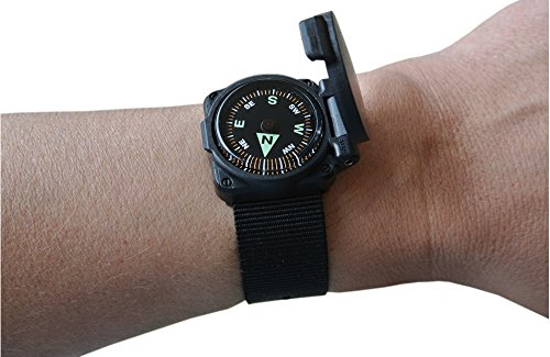 Compass II - Luminous - Grade A - Flip-Top Shell (Military Wrist Compass)