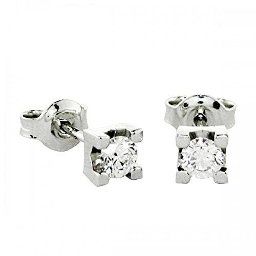 Boucles d'Oreilles-Boucles d'Oreilles-lumière de diamants taille brillant-Femme