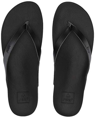 REEF Women's Cushion Bounce Court Sandals, Black, Size 5