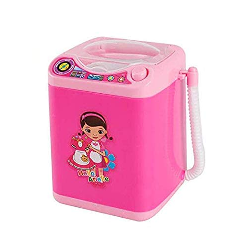 - MAKEUP BRUSH CLEANER SPINNER MACHINE - Electronic Mini Washing Machine Shape Automatic Makeup Brush Cleaner Dries Deep Cleaning for Brushes, Sponge and Powder Puff Tiktok Toy (Pink)