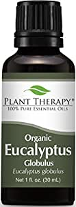 Certified USDA Organic Eucalyptus Essential Oil. 30 ml (1 oz). 100% Pure, Undiluted, Therapeutic Grade.