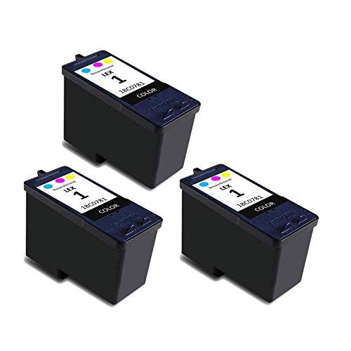 Lexmark #1 18C0781 Compatible Remanufactured Color Ink Cartridge -3PK
