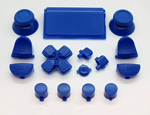 Dark Blue Full Button +2 Springs Replacement Mod Kit for Playstation 4 PS4 Controller