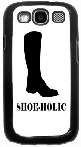 Rikki KnightTM ShoeHolic Cowboy Boot - Black Hard Rubber TPU Case Cover for Samsung® Galaxy i9300 Galaxy S3