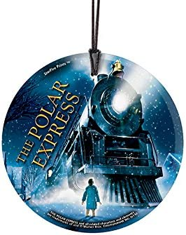 Amazon Com Polar Express Train Starfire Prints Hanging Glass Ideal For Gifting And Collecting Home Kitchen