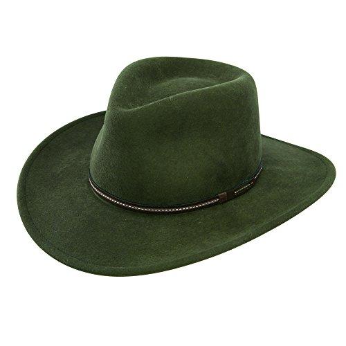 Stetson Gallatin Crushable Wool Felt Hat- Sage, - Hat Felt Wool Band