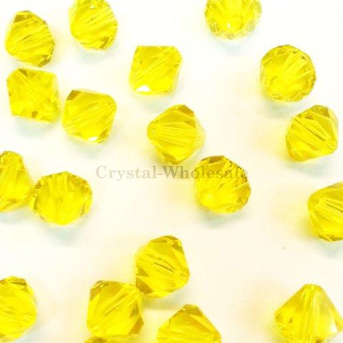 72 pcs Swarovski crystal 5328 / 5301 5mm CITRINE (249) Genuine Loose Bicone Beads
