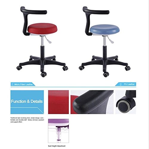 (ZGood Case of 2 Units, Dental Mobile Chair Nurse Doctor's Stool PU Leather QY-G Clinic)