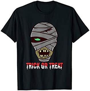 Trick Or Treat | Funny Mummy Halloween T-shirt | Size S - 5XL