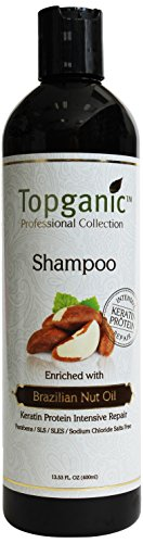 Topganic Shampoo with Brazil Nut Oil, 13.5 Ounce by Topganic