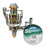 FAIGAFAIVA Spinning Fishing Reels, Ultra Light Weight 12+1 BB and Metal Spool, Smooth Powerful Fishing Reel for Saltwater or Freshwater
