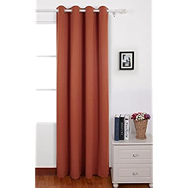 Deconovo Grommet Top Thermal Insulated Blackout Curtain Home Decor 52x84 Inch Orange Red