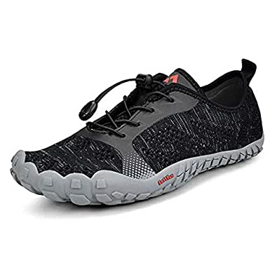 Tanloop Trail Running Shoes Lightweight Outdoor Hiking Shoes Cross-Trainer Barefoot Shoes for Men Women Black Size: 6
