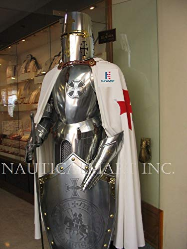 Armor Medieval (Medieval Wearable Knight Full Suit Armor 15TH Century Combat Body Armour Suit Silver)