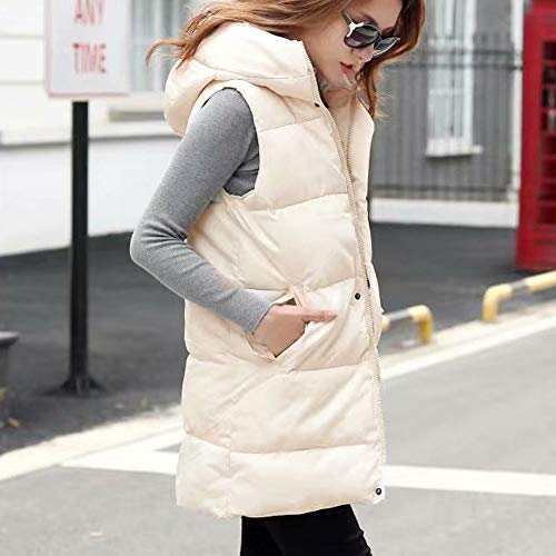 Bianca Donna Pocket Vest fashion Da Coat Alla Moda Outdoor Jacket Womens Hooded Giacca Down 5wOFqP