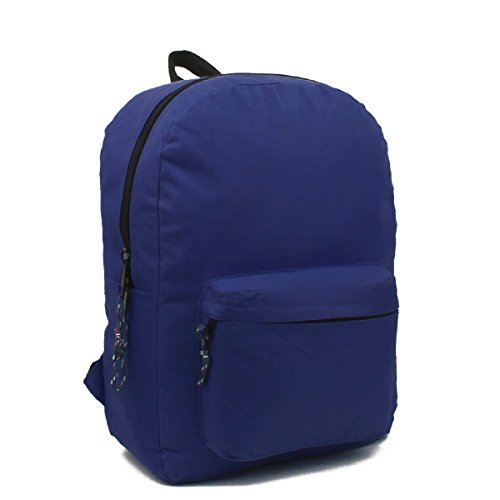 Wholesale 17'' Backpacks In Solid Navy - Case of 24 by AIR EXPRESS