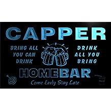 q06901-b CAPPER Family Name Home Bar Beer Mug Cheers Neon Light Sign