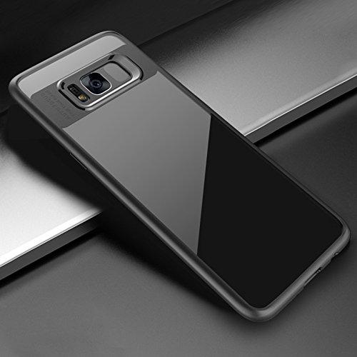Hanbaili Caja protectora para Samsung Galaxy S8, Clear Ultra-Slim resistente cubierta de parachoques, a prueba de golpes, resistente a los arañazos Black