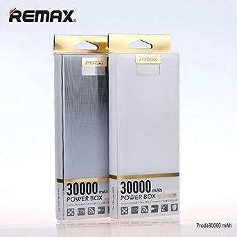 Cargador portátil remax Proda Power Bank/caja 30000 mAh con doble salida USB y linterna integrada – negro: Amazon.es: Electrónica