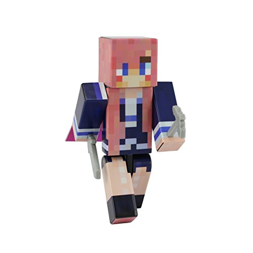 [Highschool Girl Action Figure Toy, 4 Inch Custom Series Figurines by EnderToys] (Skeleton Minecraft Costume)