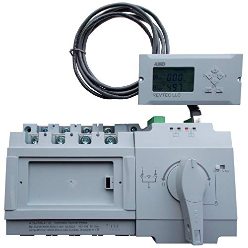 - 4PRO ATS-250A-4P-di Intel. Automatic Changeover Transfer Switch, 4 Pole, 250A, 230/400V, 50/60Hz, 1-3 Phase