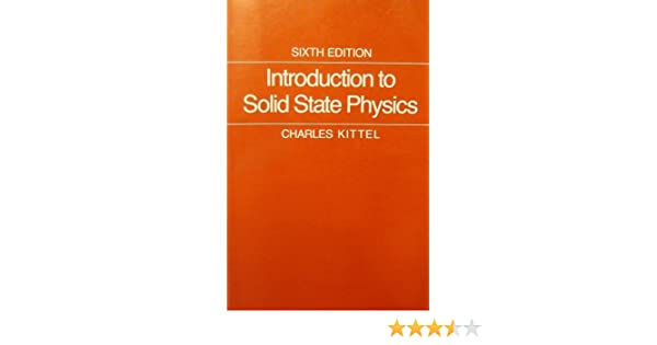 introduction to solid state physics by charles kittel ebook free
