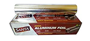 ALU, FOIL 30 CM X 60 MTRS, STANDARD 870 GRAM/ROLL, 1 X 1 ROLL/PCS, GCCE, COLOR : CLEAR