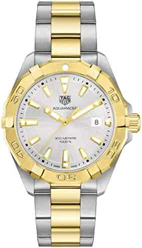 Tag Heuer Aquaracer Quartz Silver Dial Two Yellow Gold and Stainless Steel Men's Watch WBD1120.BB0930