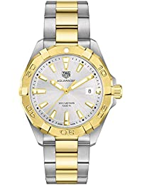 Aquaracer Quartz Silver Dial Two Yellow Gold and Stainless Steel Men's Watch WBD1120.BB0930