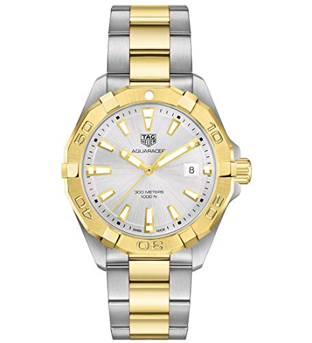 Aquaracer Silver Dial - Tag Heuer Aquaracer Quartz Silver Dial Two Yellow Gold and Stainless Steel Men's Watch WBD1120.BB0930