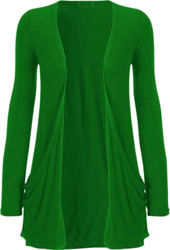 Clothes Grandes à Boyfriend Cardigan manches T Zj Plus Shrug Tailles Vert shirt longues qdR8wxwU1