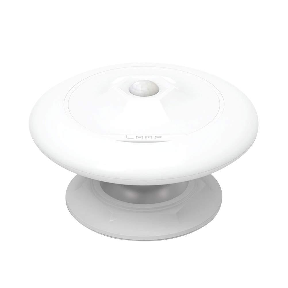 OSALADI モーションセンサー ナイトライト 0.8W 360度回転 UFO形状 温かみのある黄色いLEDナイトライトランプ バスルーム 廊下 寝室用   B07PJJGFSV