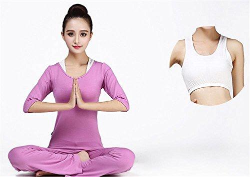 Tenue vêtements de yoga gym violet de femme pour confortables salle sport de SqSaw1rz7