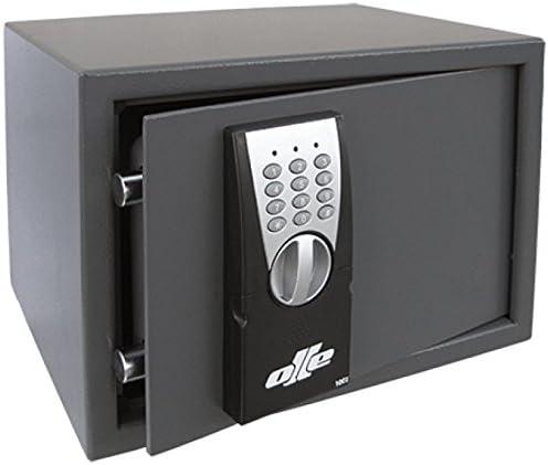 Olle EOS 100E - Caja fuerte fabricada en acero con 2mm de espesor, puerta de 5 mm y cerradura tubular de emergencia: Amazon.es: Bricolaje y herramientas