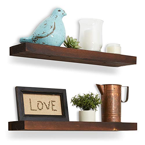 (Reclaimed Wood Floating Shelves - 24