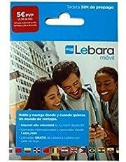 LEBARA MOVIL SPAANS PAYG - PREPAID SIM-KAART MOBIELE INTERNET 3G VOOR SPANJE (MICRO, NANO OF normale grootte)